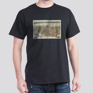 Vintage Pictorial Map of Charleston (1872) T-Shirt