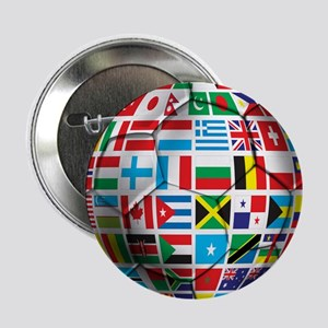 "World Soccer Ball 2.25"" Button"