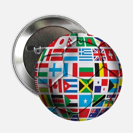 """World Soccer Ball 2.25"""" Button"""