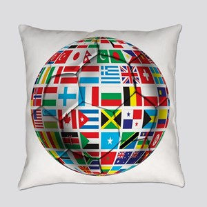 World Soccer Ball Everyday Pillow