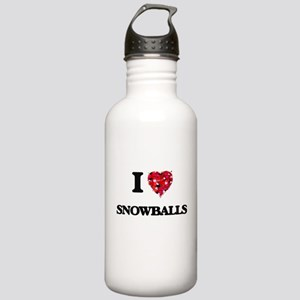 I love Snowballs Stainless Water Bottle 1.0L