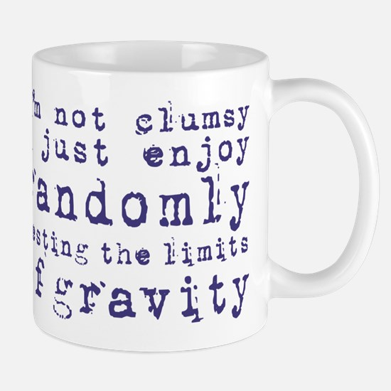 i'm not clumsy - blue Mugs