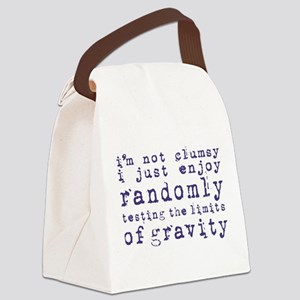 i'm not clumsy - blue Canvas Lunch Bag