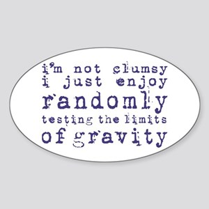 i'm not clumsy - blue Sticker
