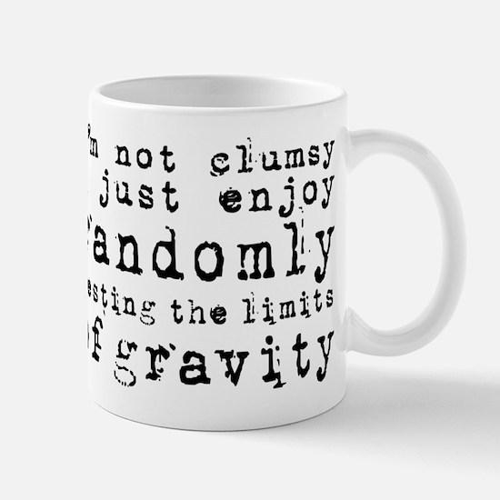 i'm not clumsy - black Mugs
