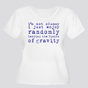 i'm not clumsy - purple Plus Size T-Shirt