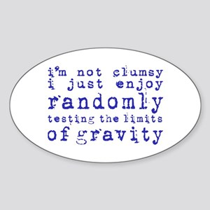 i'm not clumsy - purple Sticker