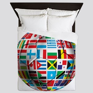 World Soccer Ball Queen Duvet