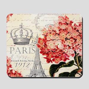 Paris hydrangea Mousepad