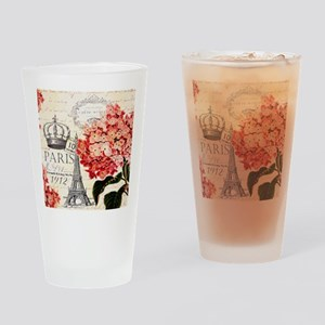 Paris hydrangea Drinking Glass