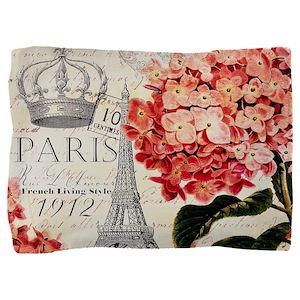 Paris hydrangea Pillow Sham