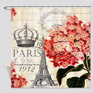 Paris hydrangea Shower Curtain