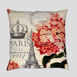 Paris hydrangea Everyday Pillow