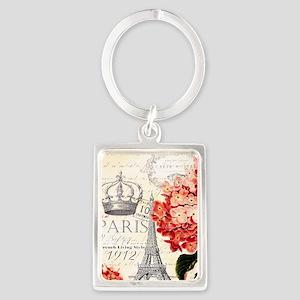 Paris hydrangea Keychains