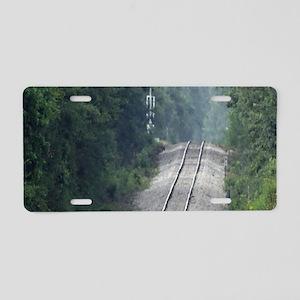 Railroad Track Aluminum License Plate
