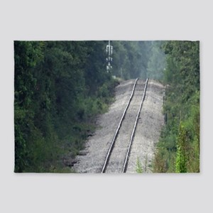 Railroad Track 5'x7'Area Rug