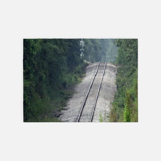 Railroad Track 5'x7'Area Rug
