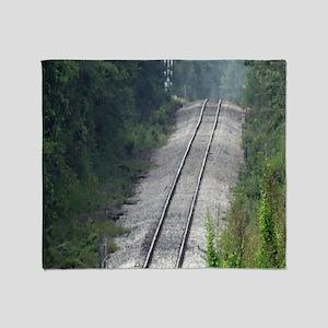 Railroad Track Throw Blanket