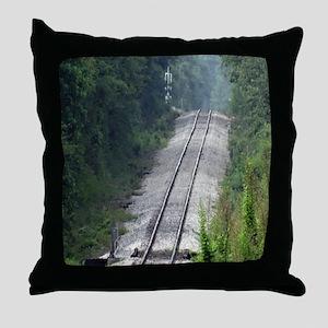 Railroad Track Throw Pillow