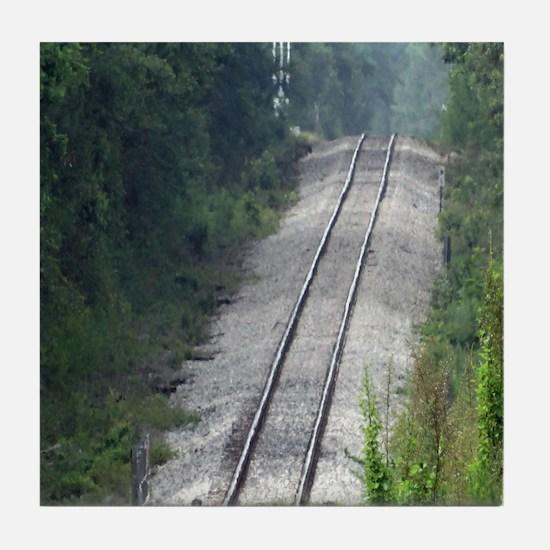 Railroad Track Tile Coaster