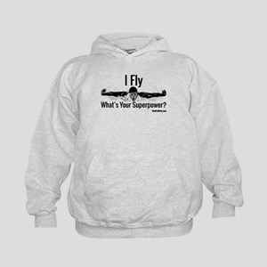 I Fly What's Your Superpower? Kids Hoodie