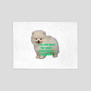 Political Agenda Puppy 5'x7'Area Rug