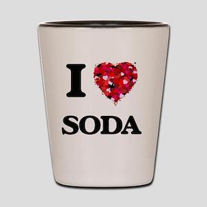 I love Soda Shot Glass
