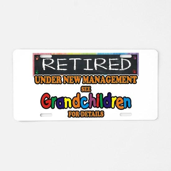 Retired Under New Aluminum License Plate