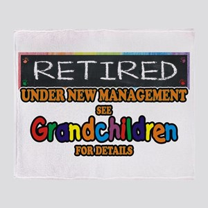 Retired Under New Management Throw Blanket