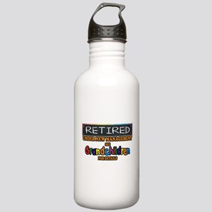 Retired Under New Management Water Bottle