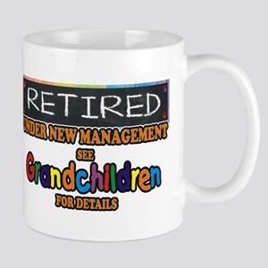 Retired Under New Management Mugs
