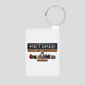 Retired Under New Management Keychains