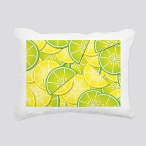 Lemon Lime Rectangular Canvas Pillow