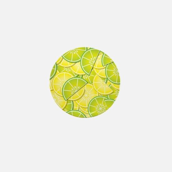 Lemon Lime Mini Button