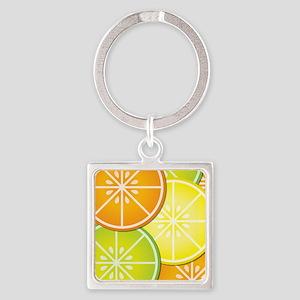 Citrus Fruit Square Keychain
