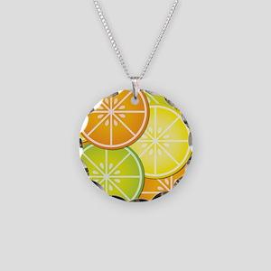 Citrus Fruit Necklace Circle Charm