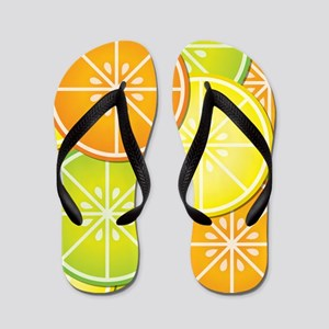 Citrus Fruit Flip Flops