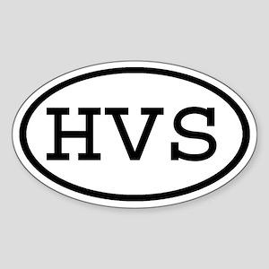 HVS Oval Oval Sticker