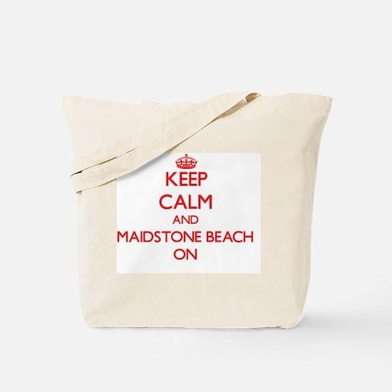 Keep calm and Maidstone Beach New York ON Tote Bag