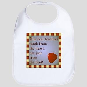 Scott Designs Teachers Heart Bib