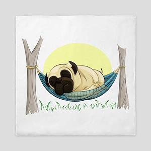 Pug in a Hammock Queen Duvet