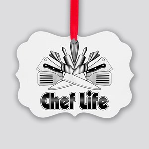 Chef Life Picture Ornament