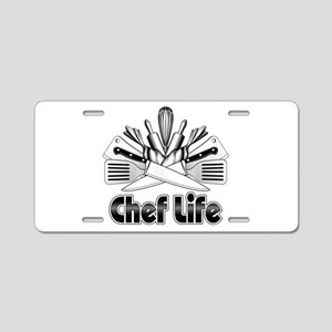 Chef Life Aluminum License Plate