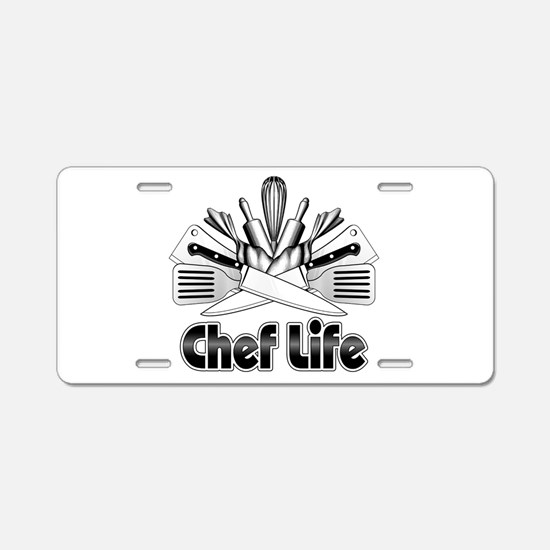 Chef Life Aluminum License Plate