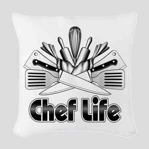 Chef Life Woven Throw Pillow