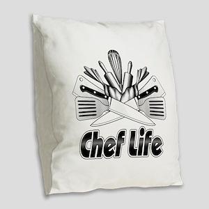 Chef Life Burlap Throw Pillow