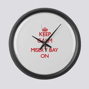 Keep calm and Misery Bay Michigan Large Wall Clock