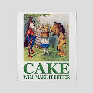 Cake Will Make It Better Throw Blanket