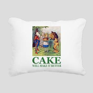 Cake Will Make It Better Rectangular Canvas Pillow