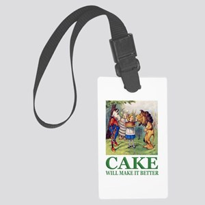 Cake Will Make It Better Large Luggage Tag